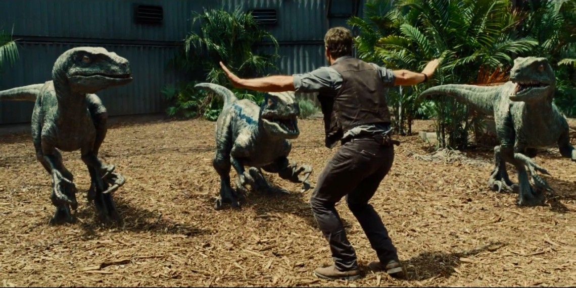 Chris Pratt Velociraptor Jurassic World